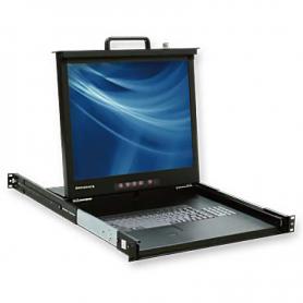 "PRA-11700 | Consola 17"" para montaje en rack. Opcional con KVM 8 puertos"