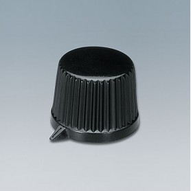 A1613560 / TUNING KNOB - ABS (UL 94 HB) - black RAL 9005 - 19