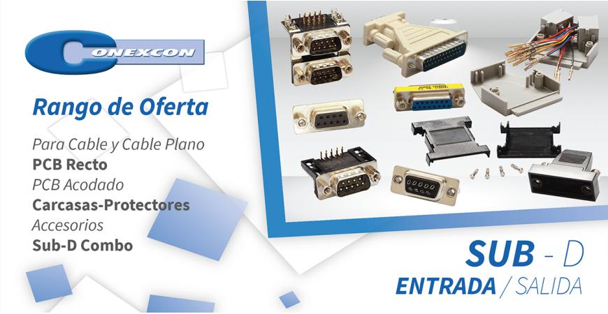 CONEXCON: Conectores ENTRADA/SALIDA SUB-D