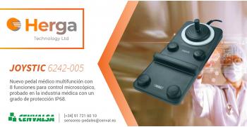 HERGA: Nuevo pedal médico Joystick 6242-005