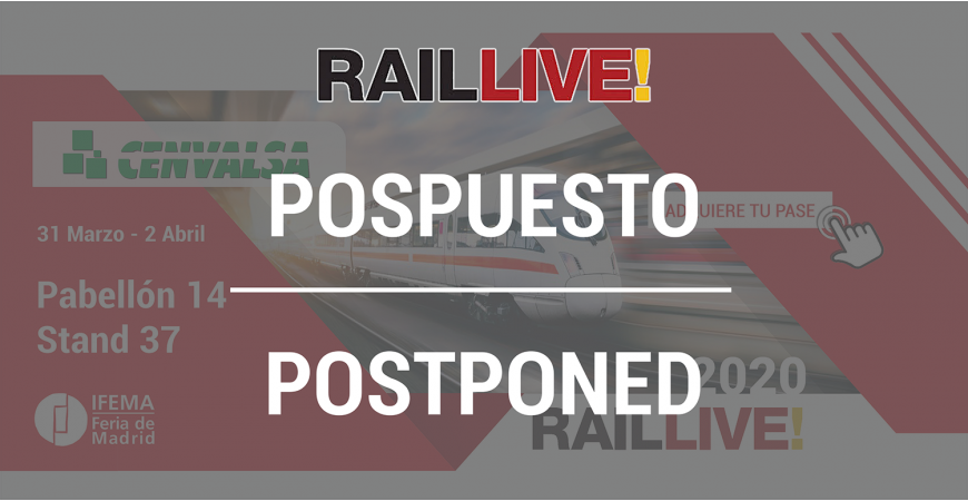 RAIL LIVE 2020: EVENTO APLAZADO