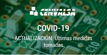 CENVALSA: Últimas medidas adoptadas debido al COVID-19