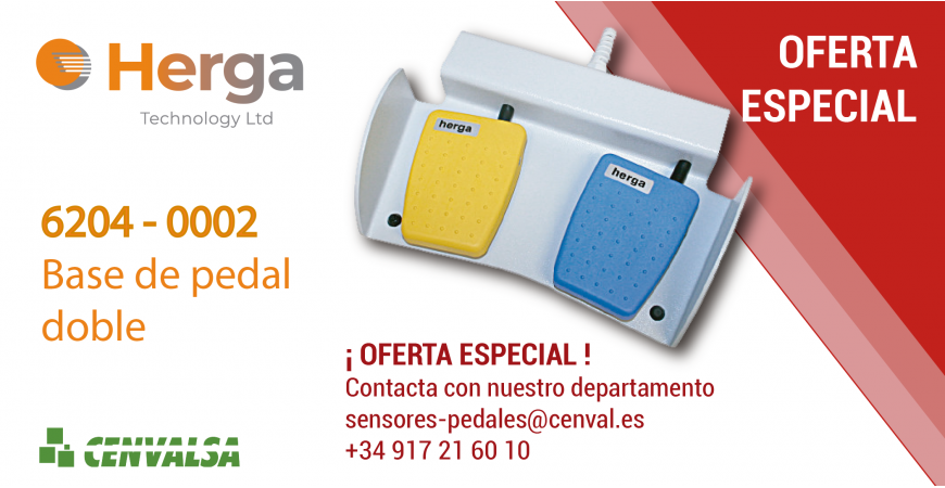 OFERTA HERGA: 6204-0002 / Base de pedal doble