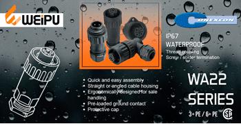 CONEXCON: Conectores Waterproof WEIPU WA22 3+PE & 6+PE