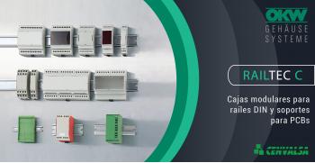 RAILTEC C: Cajas modulares para raíles DIN