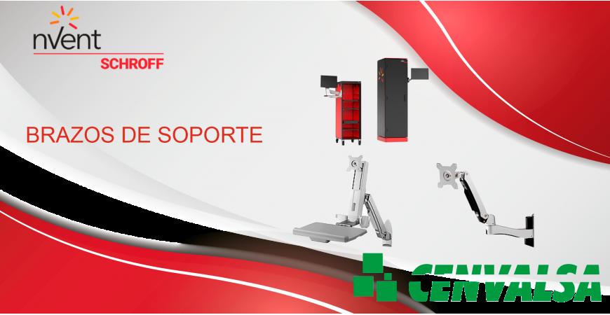 NVent lanza brazos de soporte con flexibilidad superior para gabinetes electrónicos