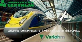 Nuevo sensor de temperatura ETP21R de Variohm especial para aplicaciones ferroviarias