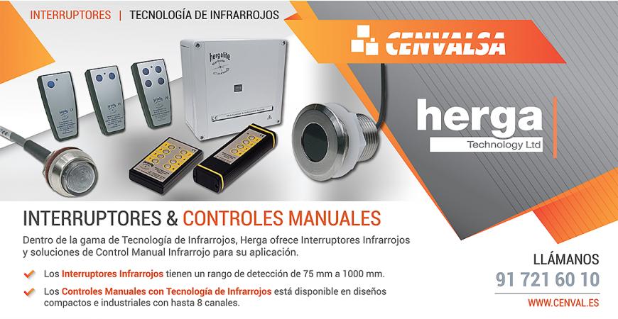 Gama de Interruptores y Controles con Tecnología de Infrarrojos