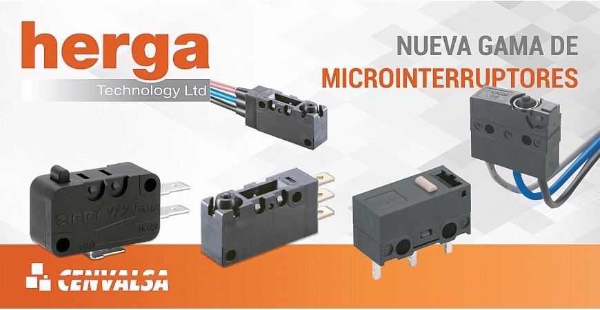 Nueva línea de Microinterruptores de la firma HERGA