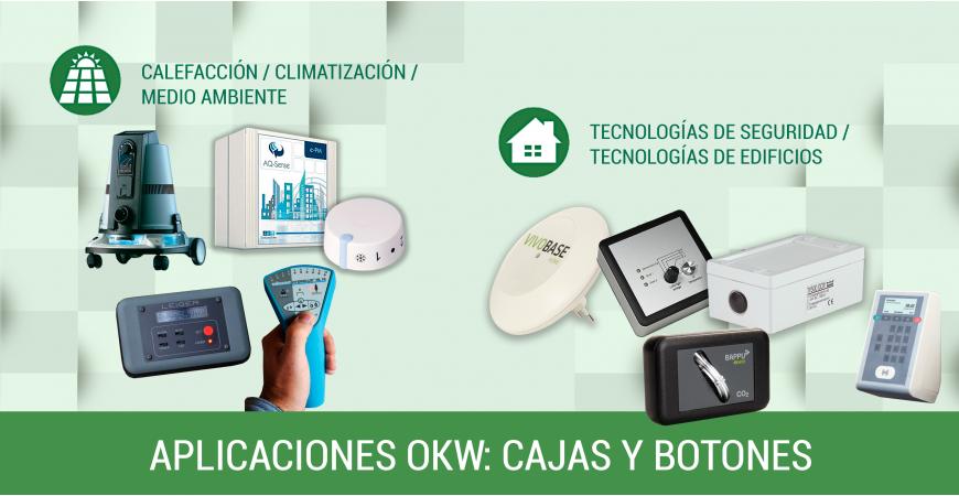 Cajas y botones giratorios de OKW: ámbitos de aplicación