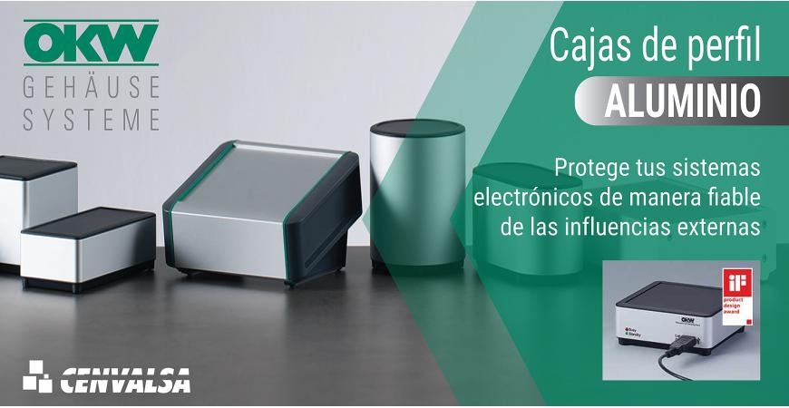 Cajas de perfil de aluminio OKW: protección garantizada para tus sistemas electrónicos.
