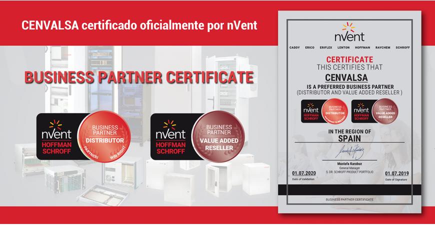 CENVALSA certificado oficialmente por nVent