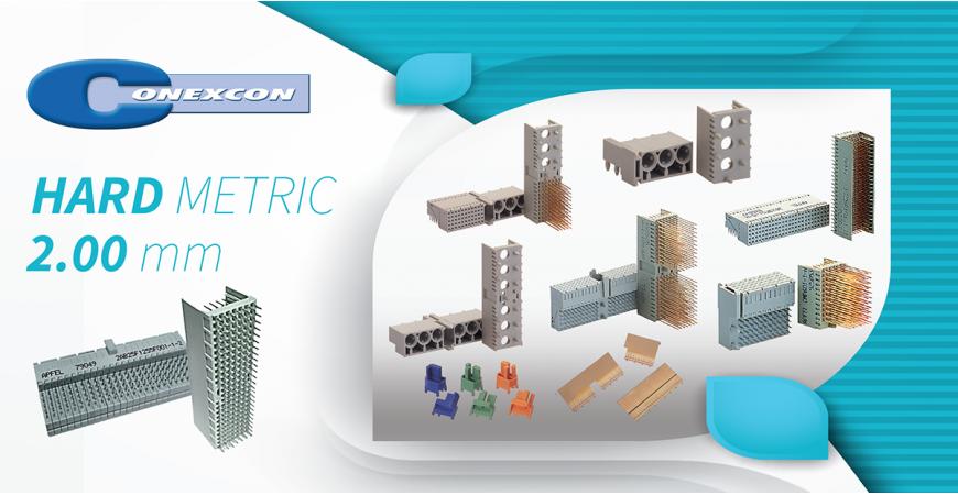 CONEXCON: Nuevos conectores HARD METRIC 2.00 mm