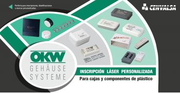 OKW: Inscripción láser personalizada para cajas y componentes de plástico