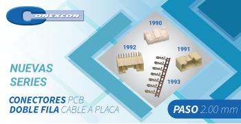 CONECTRÓNICA: Nuevas series Doble fila cable a placa - paso 2,00 mm