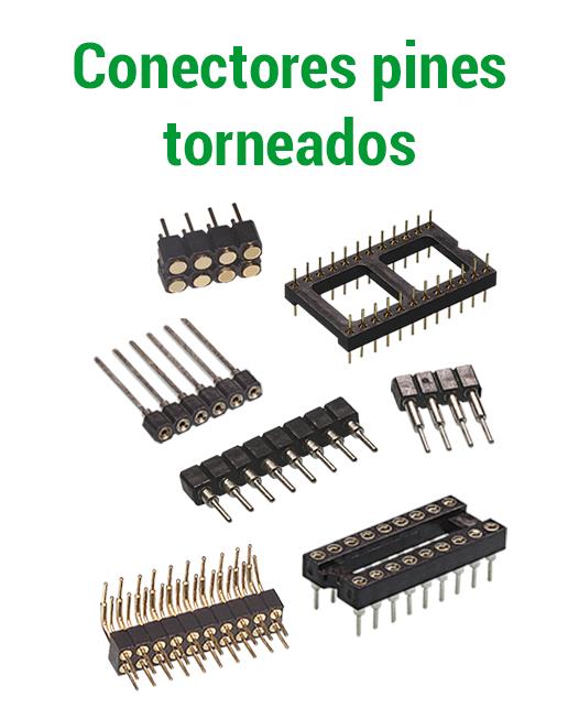 Conectores pines torneados