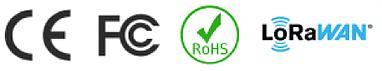 CE, FCC, RoHS, LoraWan